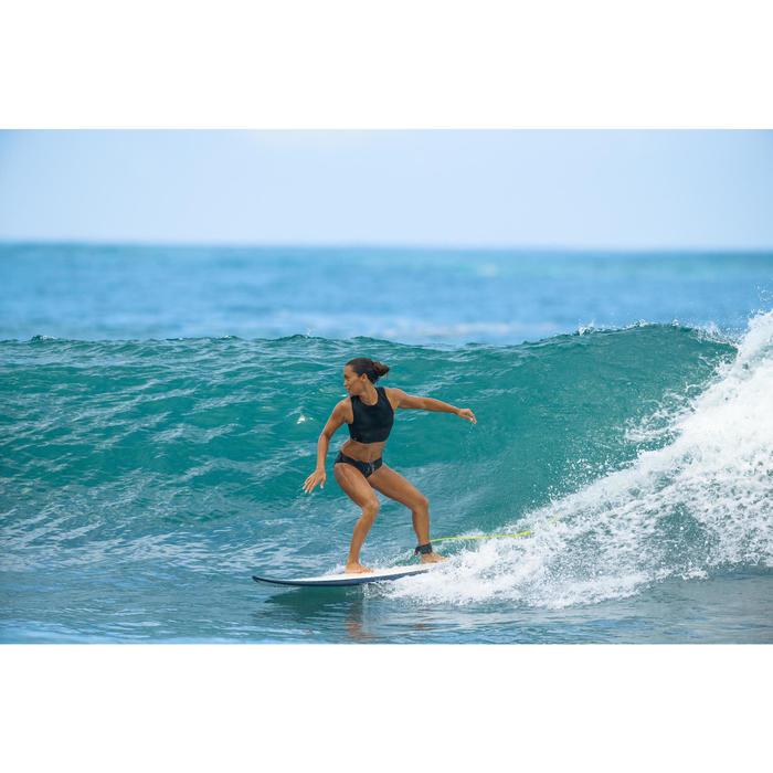 Braga Bikini Surf Brasileña Olaian Vali Uni Mujer Cordón Ajustable Negro