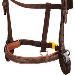 Hoofdstel + teugels ruitersport 100 bruin maat pony