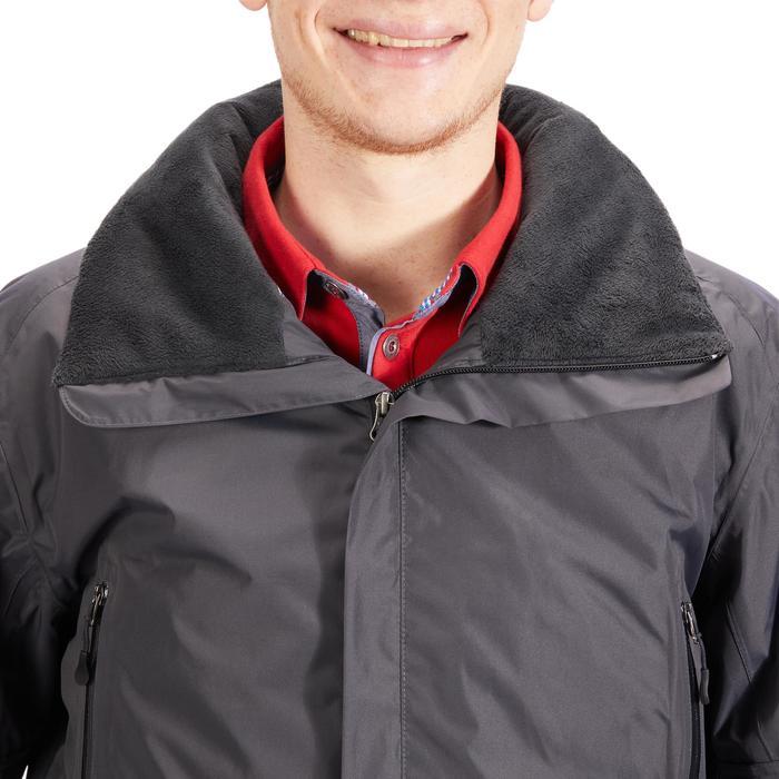 Warm en waterdicht jack ruitersport 500 WARM voor heren grijs