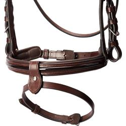 Bridon équitation 580 GLOSSY marron - taille cheval