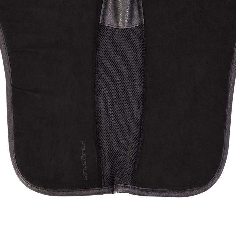 500 Horse Riding Foam Saddle Pad For Horse and Pony - Black
