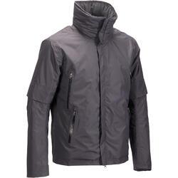 Warm en waterdicht jack voor ruitersport 500 Warm heren grijs