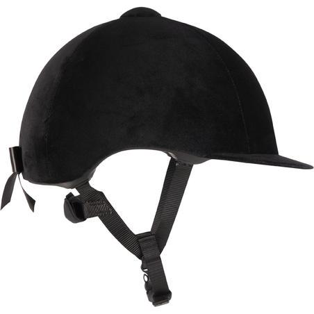 Casque équitation 140 velours noir
