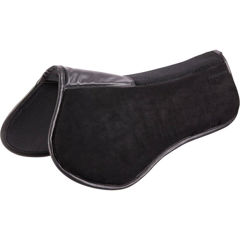 JEZDECKÁ TLUMICÍ DEČKA Jezdectví - TLUMICÍ PODLOŽKA 500 ČERNÁ FOUGANZA - Vybavení pro koně