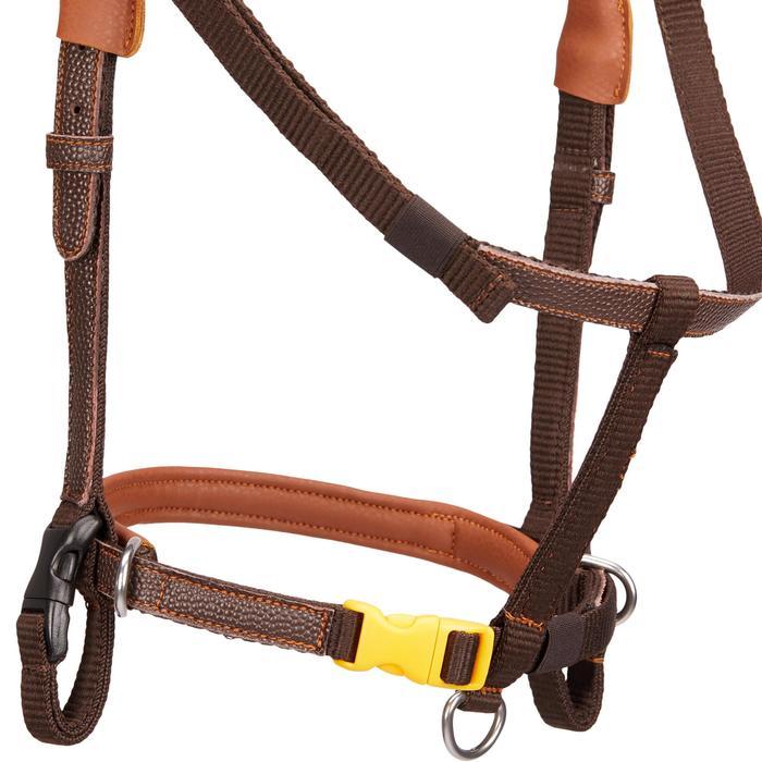 Filet + rênes équitation 100 marron - taille poney