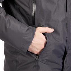 Blouson chaud et imperméable équitation homme 500 WARM gris