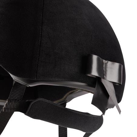 Casco Equitación Fouganza 140 Terciopelo Negro