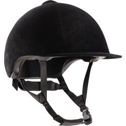 Casco equitación 140 terciopelo negro