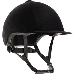 Rijhelm ruitersport 140 fluweel zwart
