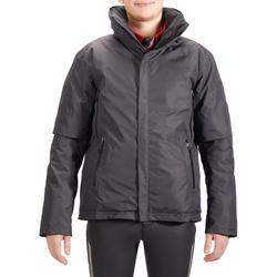 Warme en waterdichte jas voor paardrijden heren 500 WARM grijs