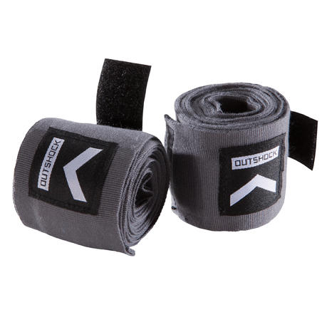 100 Boxing Wraps 2.5 m - Grey