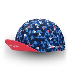 Fahrrad-Mütze 500 blau/rosa