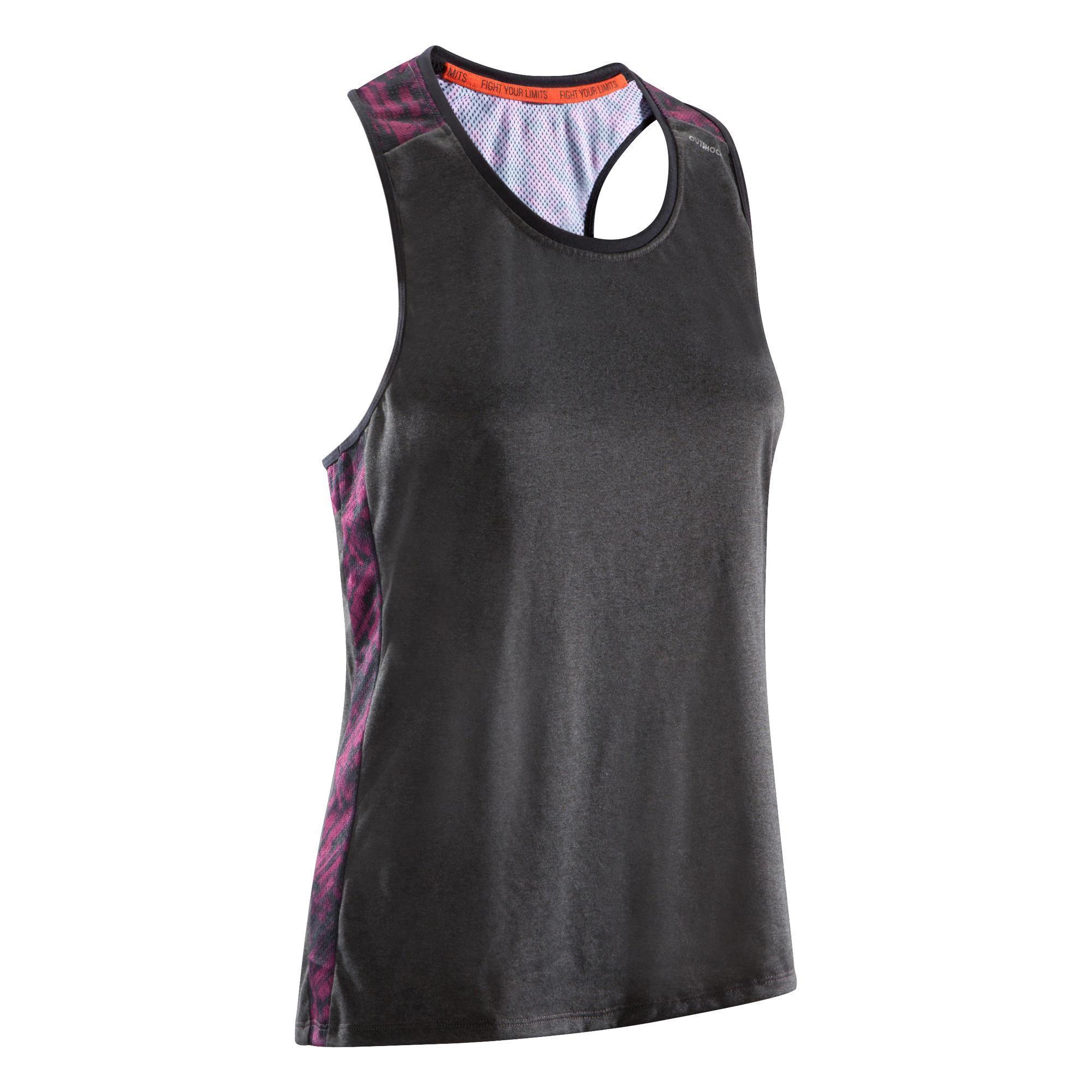 Outshock Mouwloos boksshirt 500 dames, licht en ademend