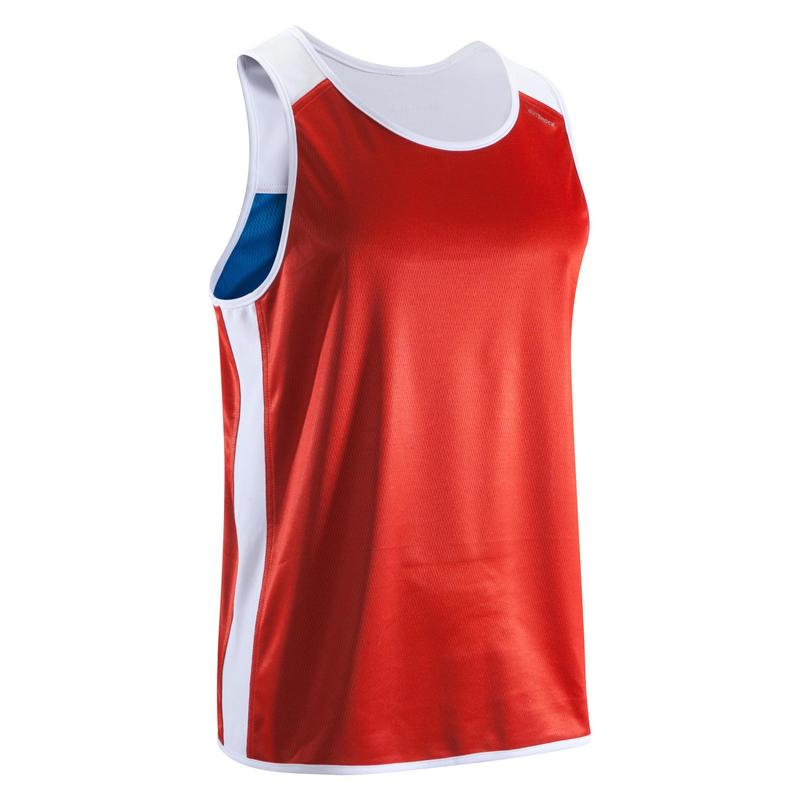 a2dd12eb 900 Adult Reversible Boxing Competition Tank Top   Domyos by Decathlon