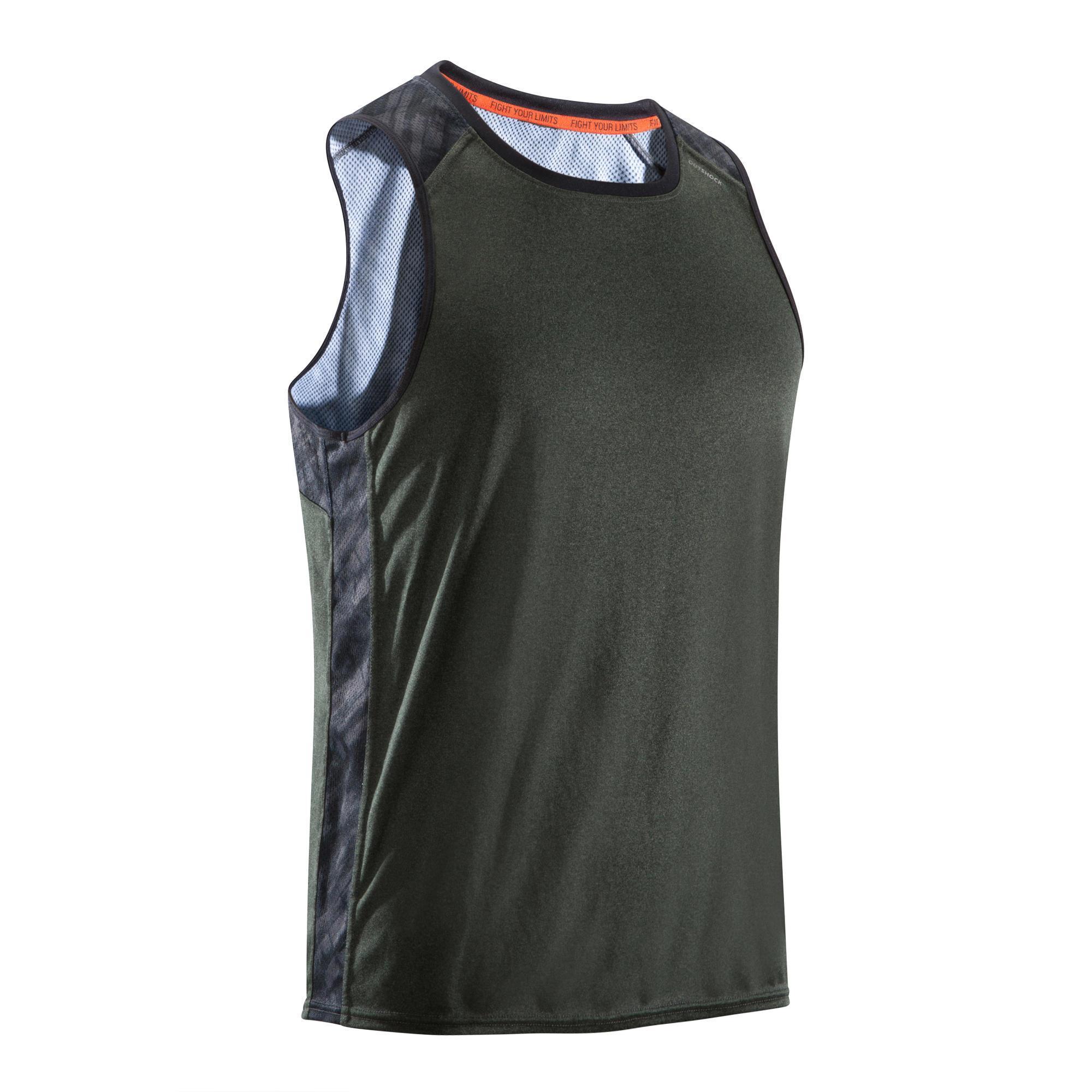 Outshock Mouwloos boksshirt 500 voor heren, licht en ademend