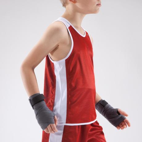dae0ecf32 Koszulka bokserska dwustronna 900 dla dzieci | Domyos by Decathlon