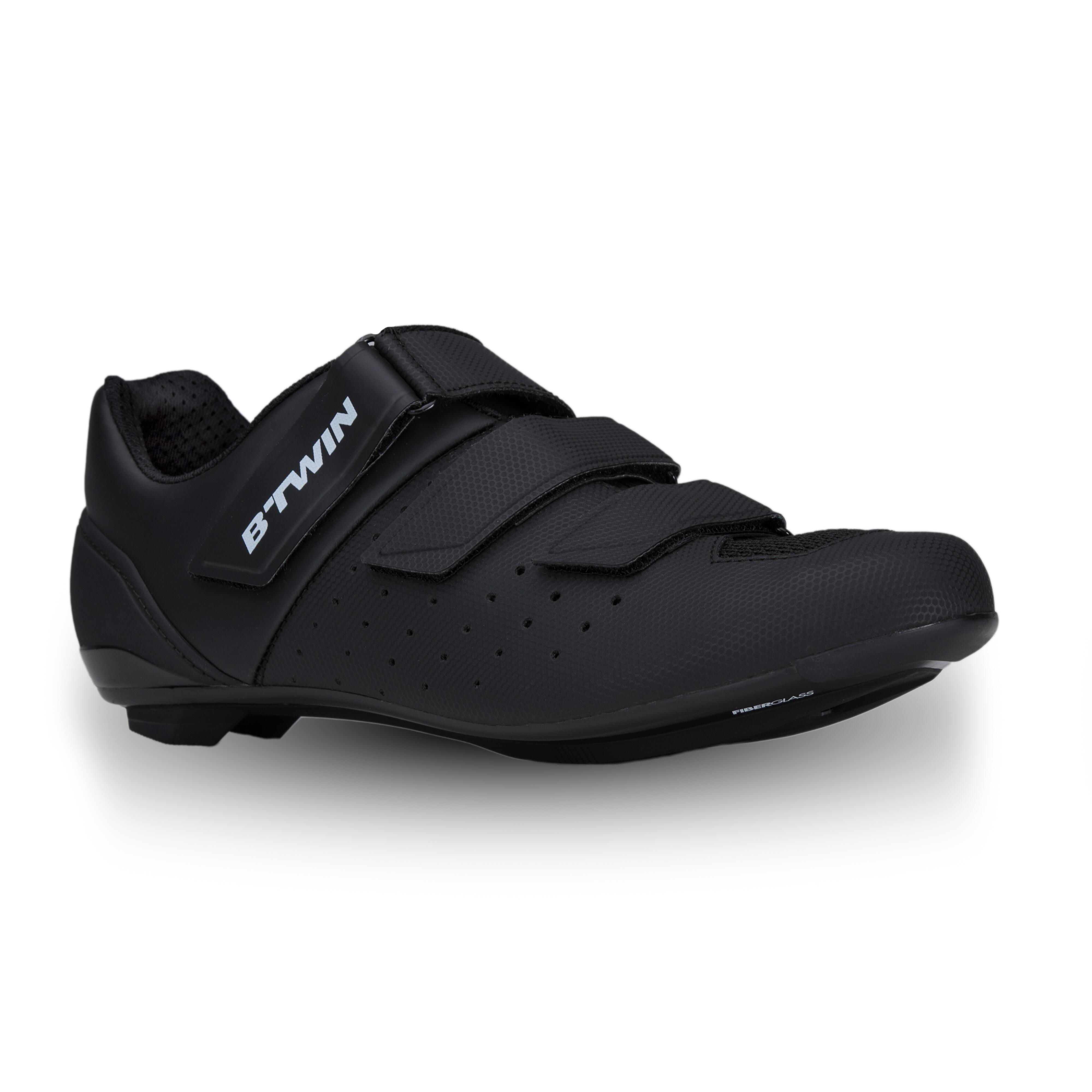 Fahrrad-Schuhe Rennrad RR 500 schwarz | Schuhe > Sportschuhe > Fahrradschuhe | Schwarz | B´twin
