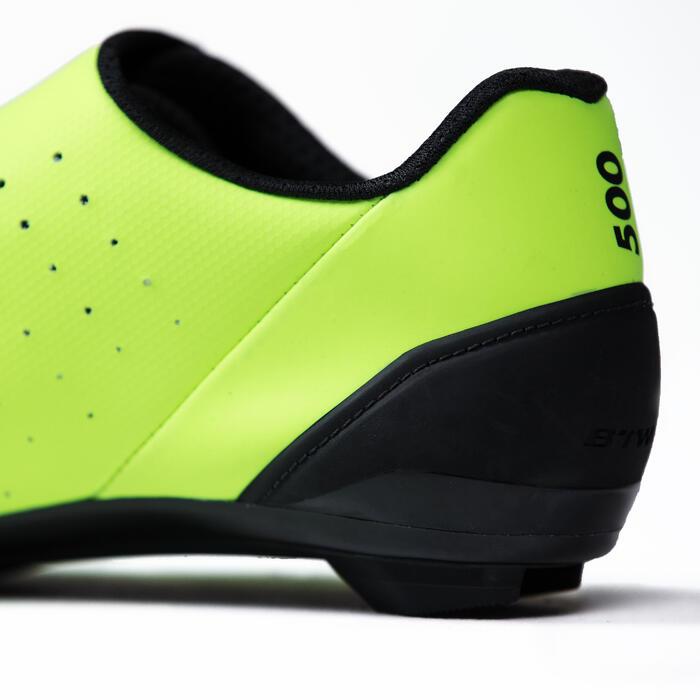 Fahrrad-Schuhe Rennrad RR 500 neongelb