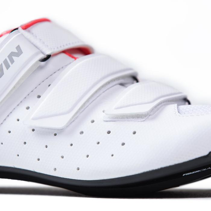 Zapatillas ciclismo carretera ROADR 500 ROSA BLANCO