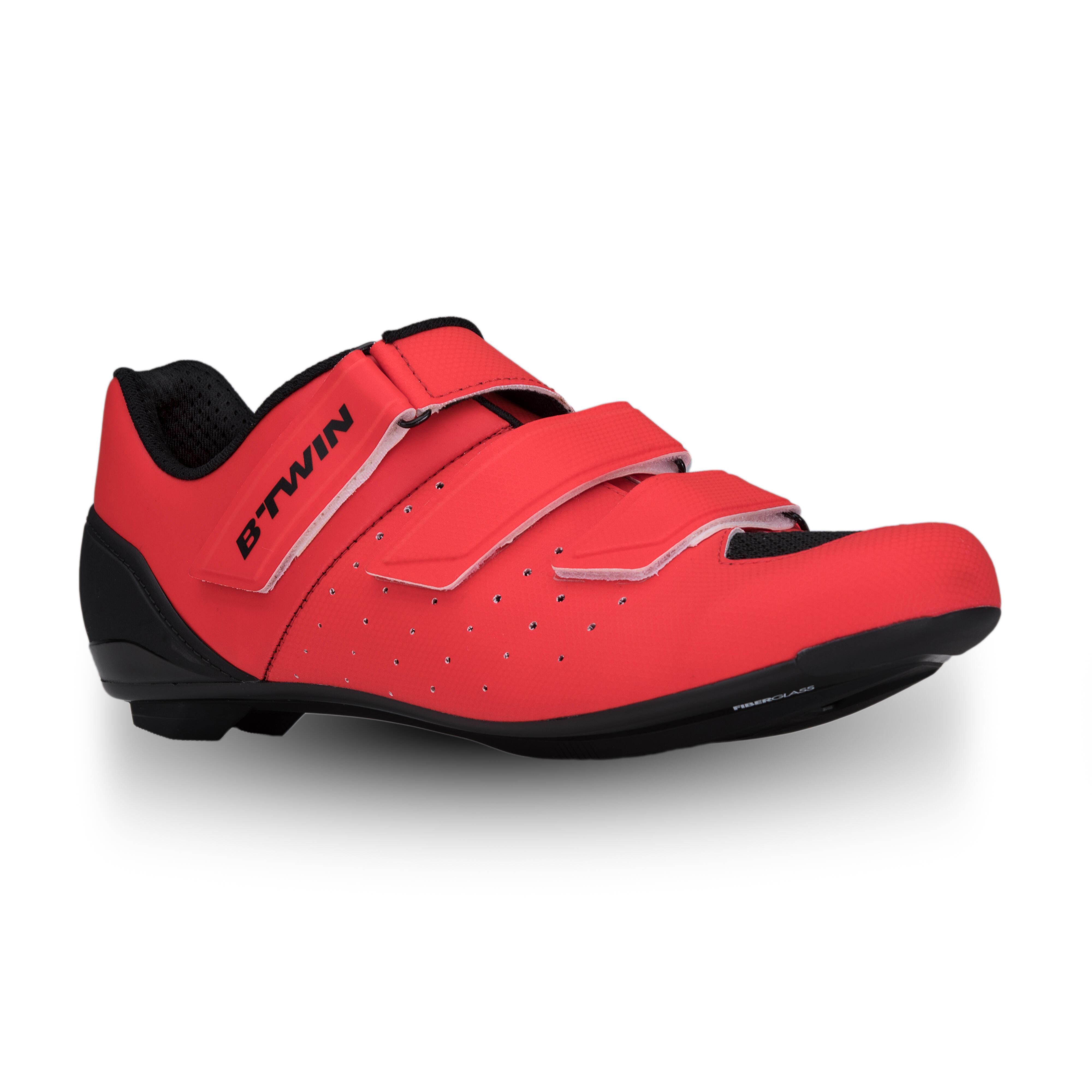B'twin Wielrenschoenen RR500 rood kopen