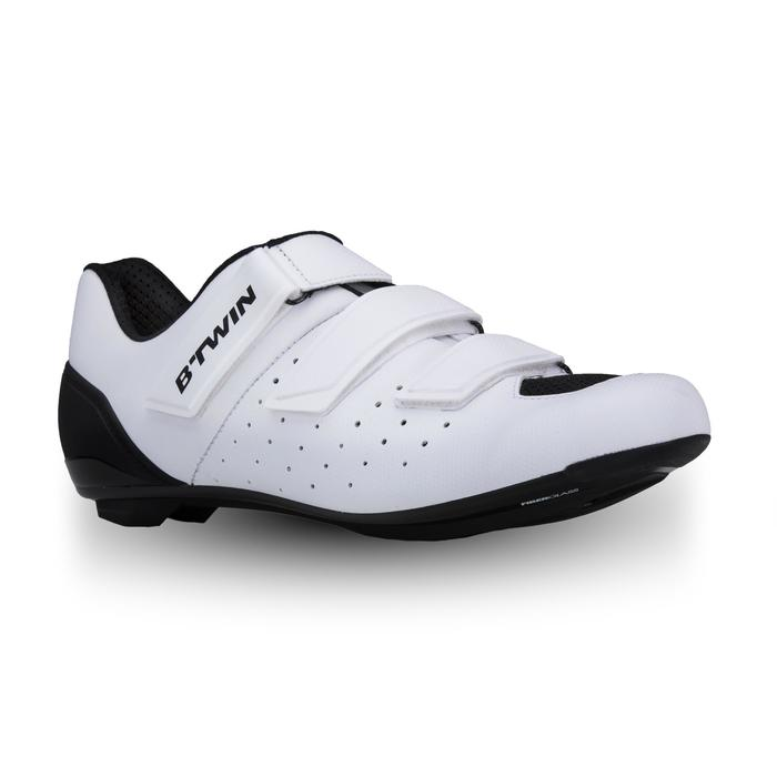 Fietsschoenen racefiets RoadRacing 500 wit