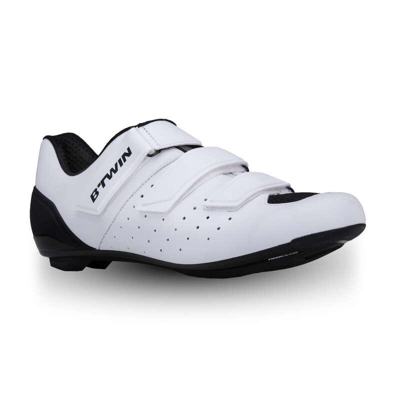 ROADR BIKE SHOES Cycling - 500 Road Cycling Shoes - White VAN RYSEL - Cycling