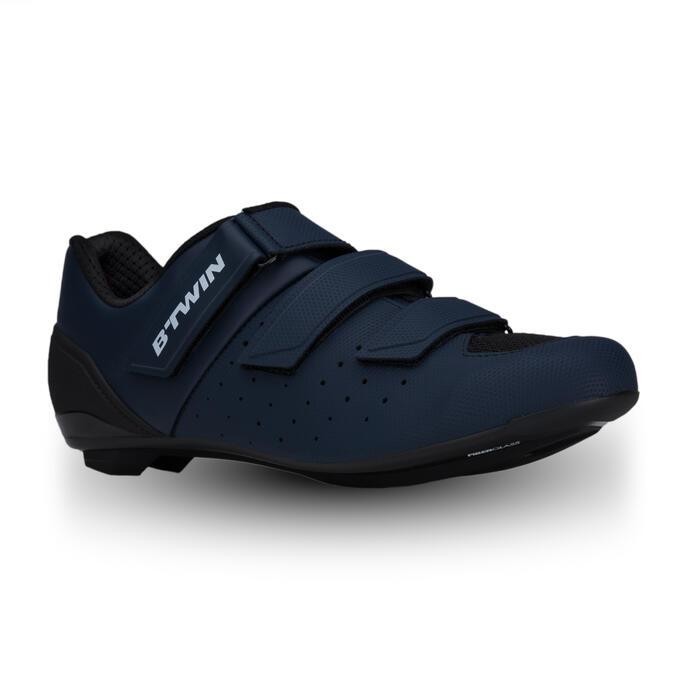 Fietsschoenen racefiets RoadRacing 500 marineblauw
