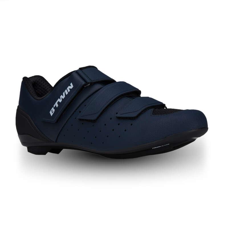 ROADR BIKE SHOES Cycling - 500 Road Cycling Shoes - Navy Blue VAN RYSEL - Cycling
