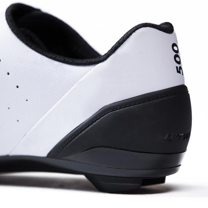 Fietsschoenen racefiets RoadRacing 500 wit