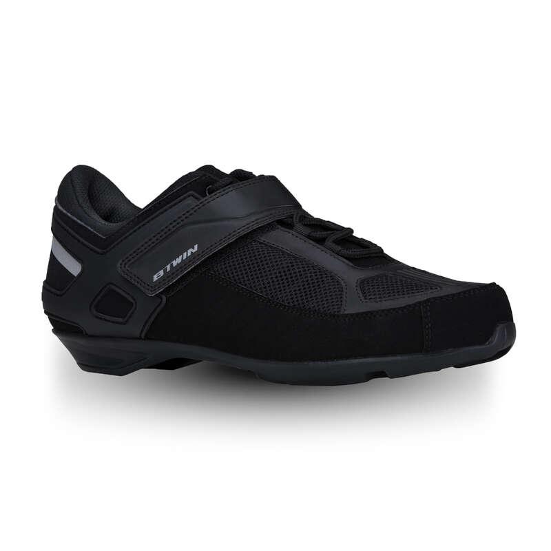 ROAD CYCLING SHOES Cycling - RC 100 SPD Road Cycling Shoes - Black TRIBAN - Cycling