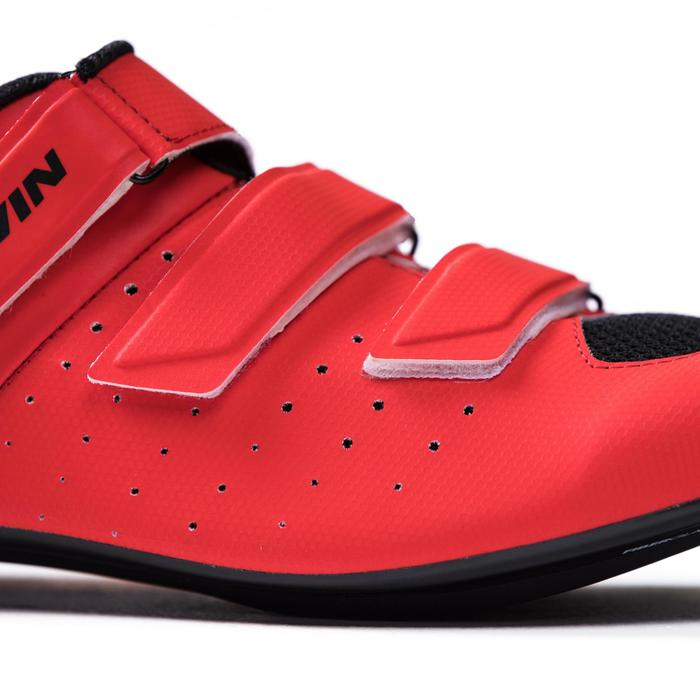 Fahrrad-Schuhe Rennrad RR 500 rot