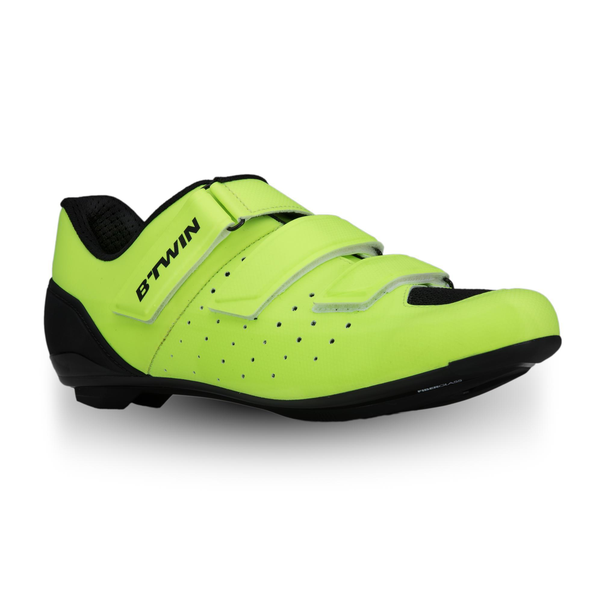 2539393 B twin Fietsschoenen racefiets RoadRacing 500 fluogeel