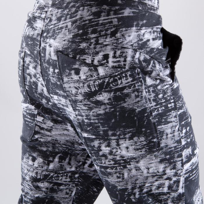 Pantalon forme carrot femme gris