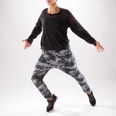 Sweat de danse coupe crop femme noir