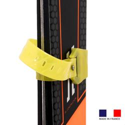 雙板滑雪板與滑雪杖連接器
