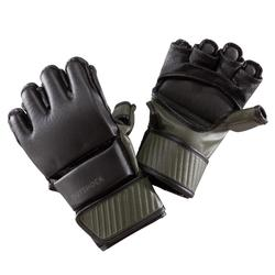 Handschoenen 100 zwart/kaki