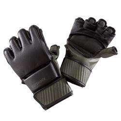 Handschoenen 100 zwart kaki