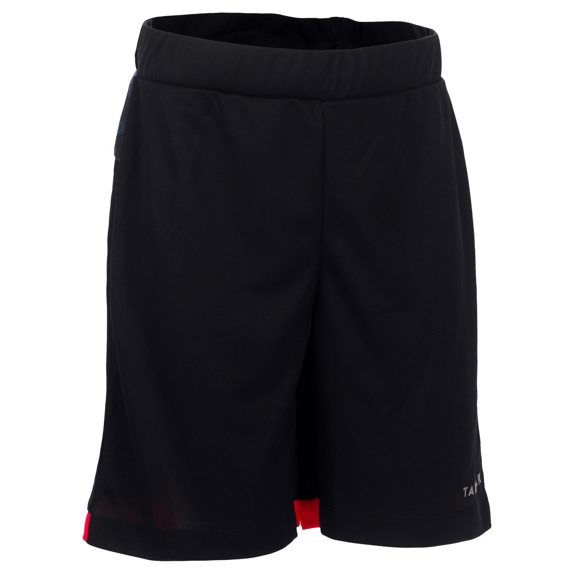Basketballshorts B500 Jungen/Mädchen Fortgeschrittene schwarz/grau   Sportbekleidung > Sporthosen > Basketballshorts   Tarmak