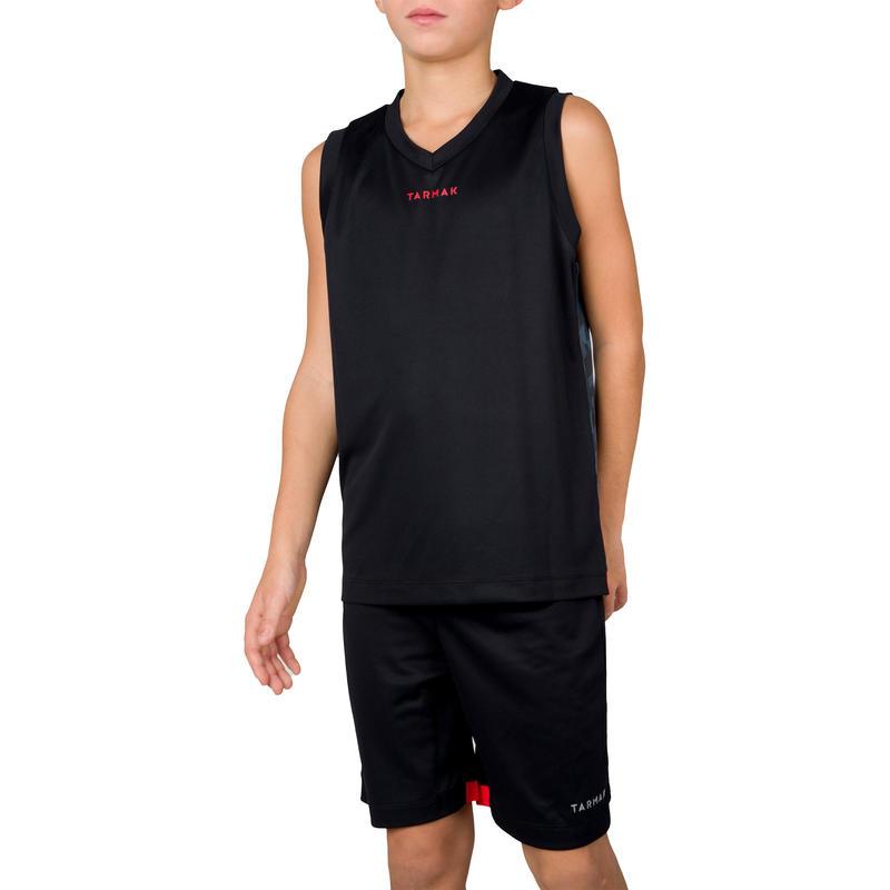 6839e0fbe B500 Boys  Girls  Intermediate Basketball Tank Top - Digital Black Grey