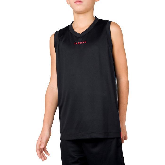 Basketballtrikot B500 Jungen/Mädchen Fortgeschrittene schwarz/grau