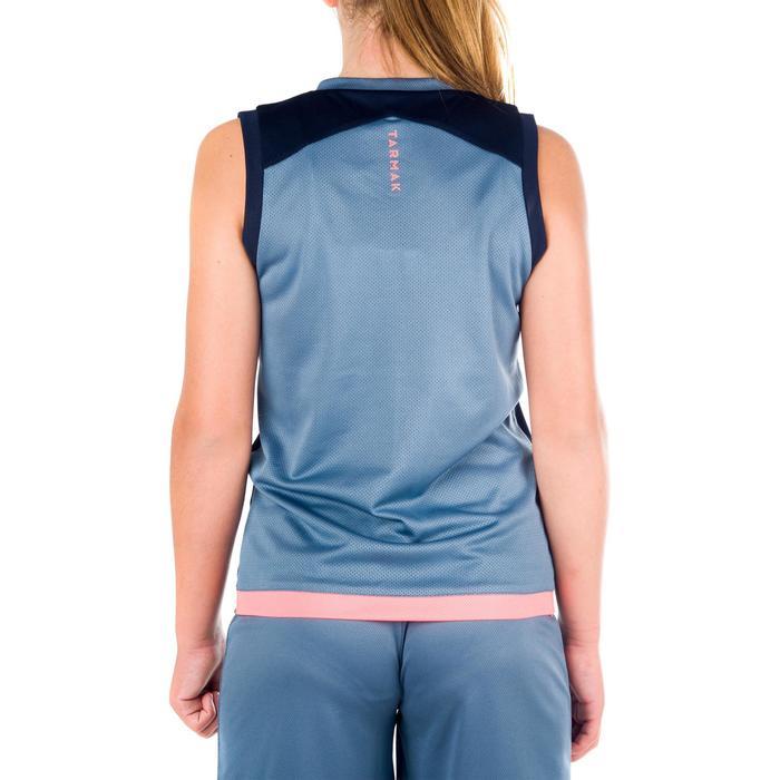 Basketballtrikot B500 Jungen/Mädchen Fortgeschrittene blau/grau/rosa