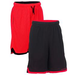 Kids' Reversible Basketball Shorts For Intermediate Players - Red/Black
