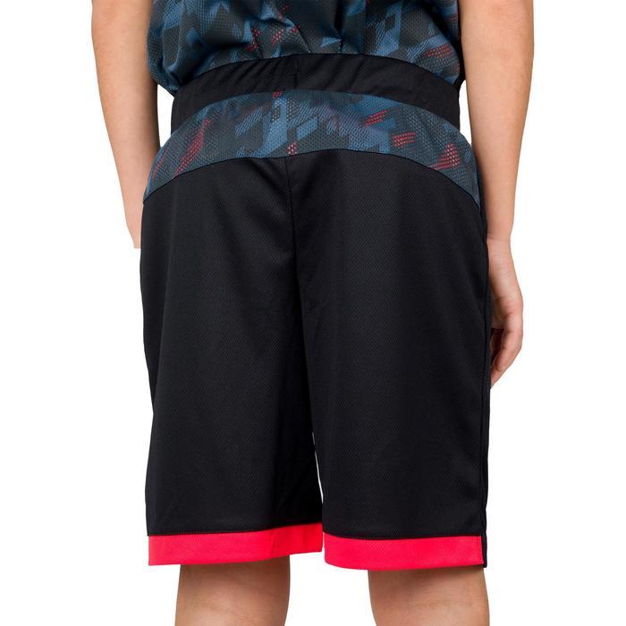 Basketballshorts B500 Jungen/Mädchen schwarz/grau