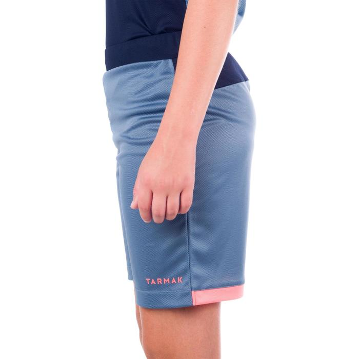 SHORT B500 DE BASKETBALL GARCON/FILLE POUR CONFIRME GRIS NAVY ROSE