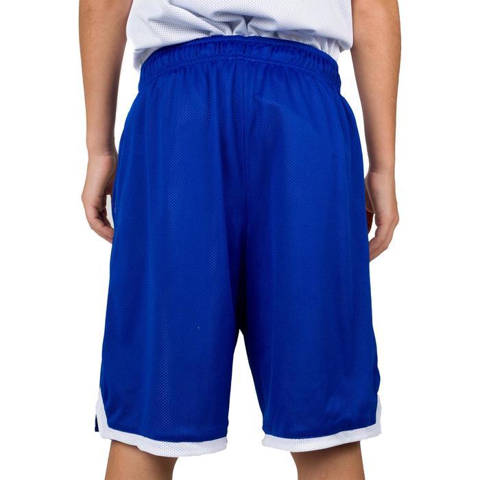 Basketballshorts Wendeshorts Jungen/Mädchen blau/weiß