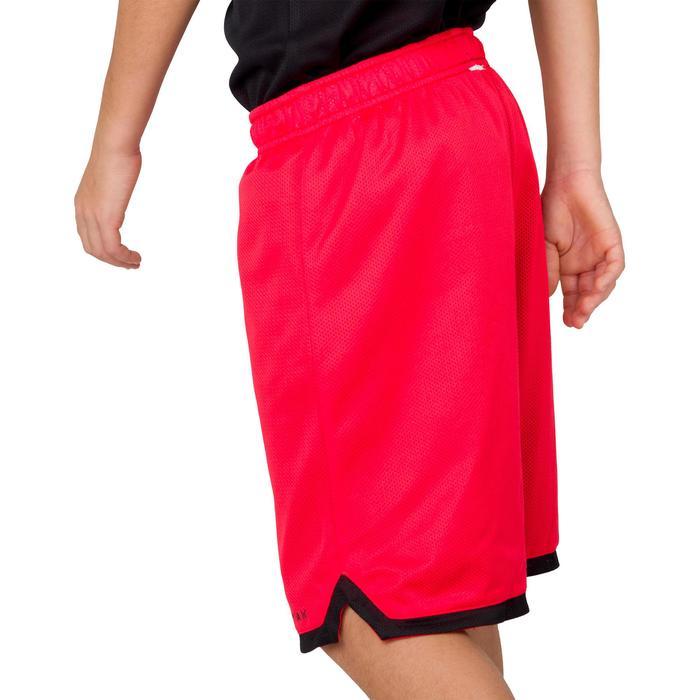 Omkeerbare basketbalshort halfgevorderde jongens/meisjes zwart rood EU