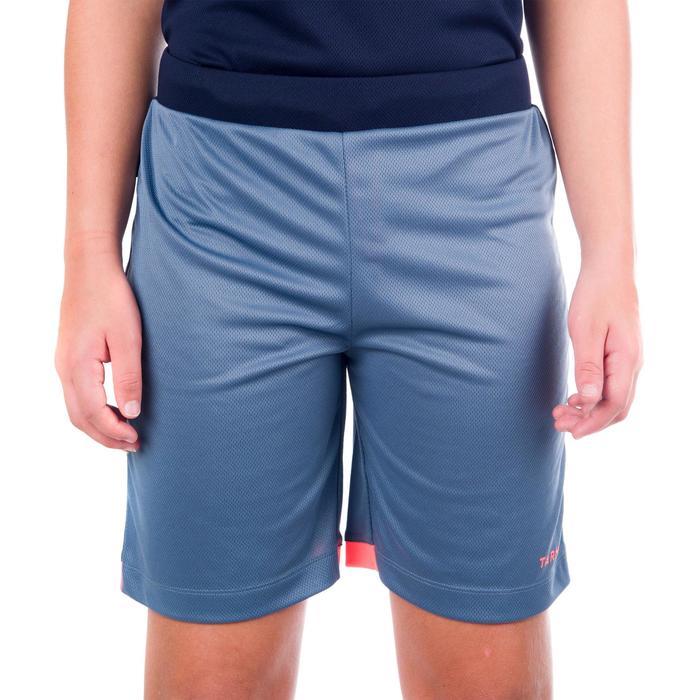 Basketbalshort B500 voor halfgevorderde jongens/meisjes grijs marineblauw roze