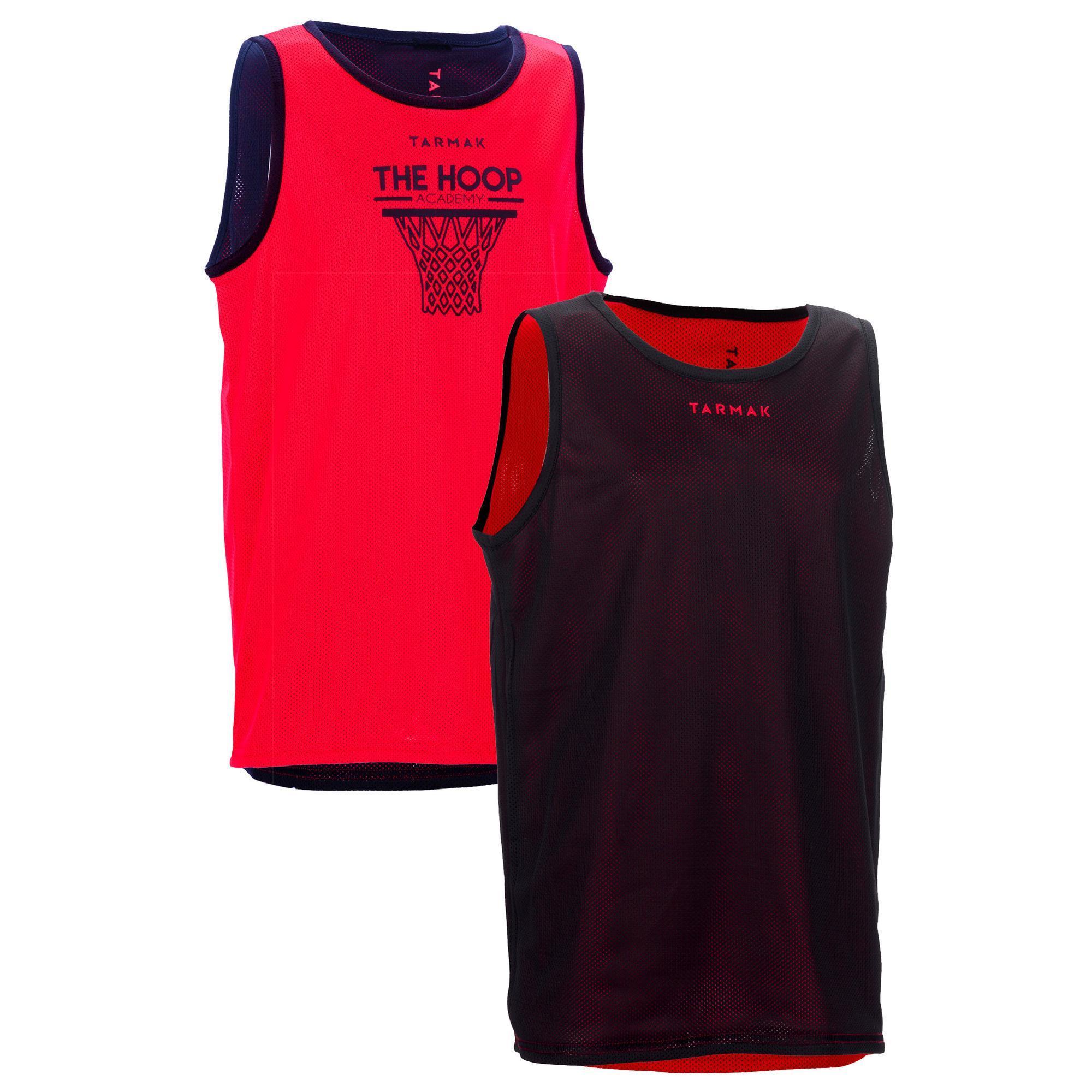 Jungen,Kinder,Mädchen,Kinder Basketballtrikot Wendetrikot Tank-Top Hoop Jungen Mädchen rot schwarz   03583788179627