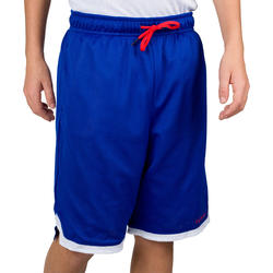 Boys'/Girls' Basketball Reversible Shorts for Beginner/Experienced Players Blue