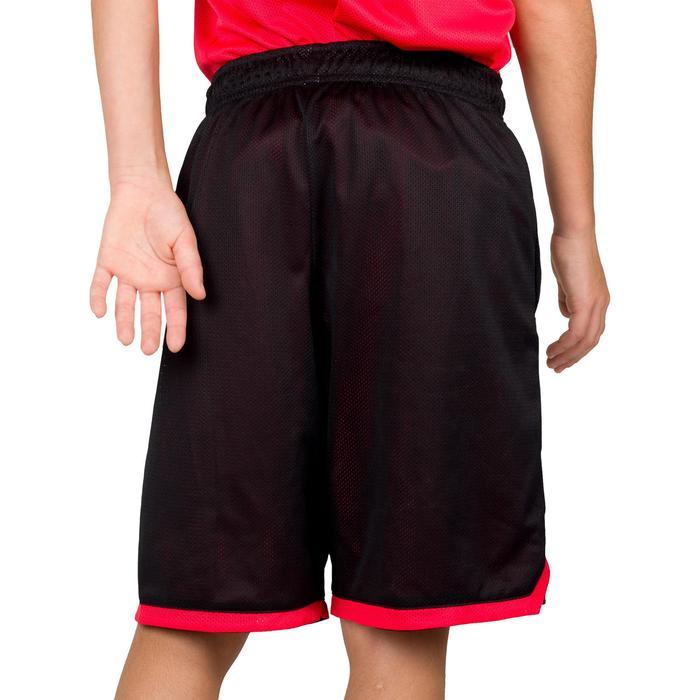 Basketball Wendeshorts Jungen/Mädchen Fortgeschrittene schwarz/rot EU